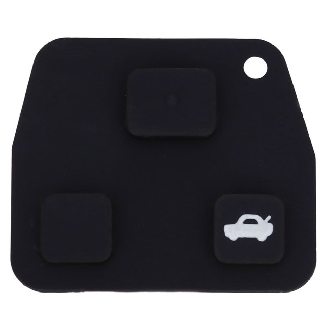 C91 Car Remote Key Holder Case Shell 3-button Rubber Pad for Toyota Easy to Install Protect Buttons From Excessive Wear