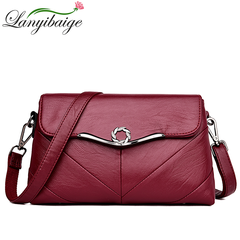 LANYIBAIGE Brand High Quality Women Crossbody Bags Female Totes Handbags Women Bag Handbags Solid Leather Messenger Shoulder Bag