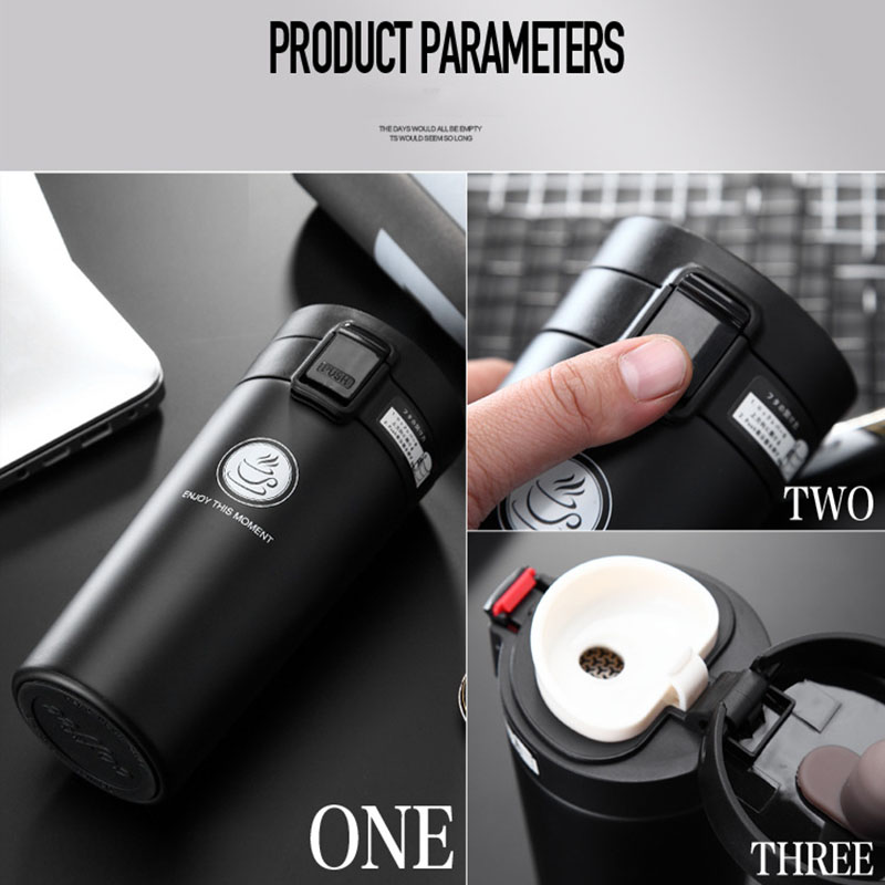 Hot Quality Double Wall Stainless Steel Vacuum Flasks 360ml 380ml Car Thermo Cup Coffee Tea Travel Mug Thermol Bottle Thermocup in Vacuum Flasks Thermoses from Home Garden