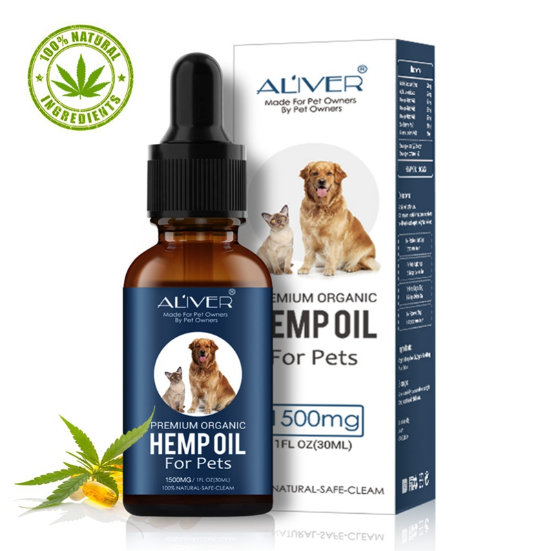 New Permium Arganic Pet Hemp Oil for dogs Natural Herbs of Pet Care Oil Anxiety Relief Pain Joint hip Strengtheens image
