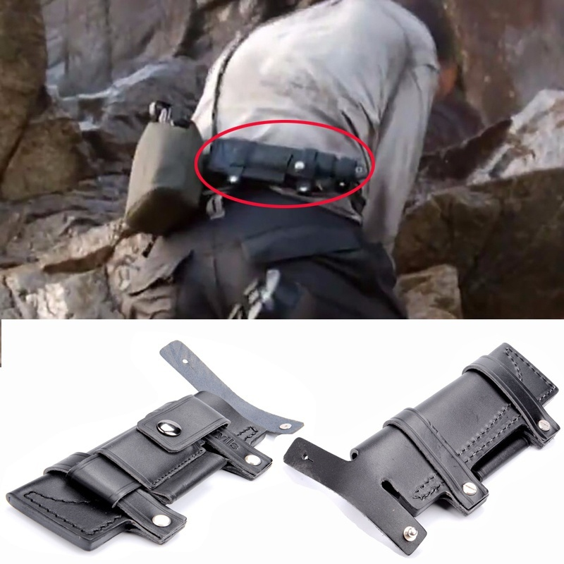 Collectable Straight Man-made Survival Leather Belt Sheath Scabbard For 7