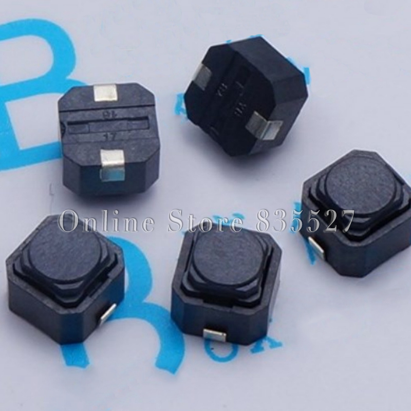 10pcs/lot no sound 6*6*5 SMD silent button silicone keypad tact switch silicon Switches 6 * 6 * 5 MM 1 piece bu3328 6 6 33 27 5 29 5 mm z25 guide rail u groove plastic roller embedded dual bearing