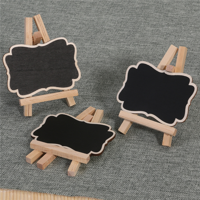 Gerahmte Tafel Vintage Mini Holz Tafel Tafel Holz Platz kartenhalter ...