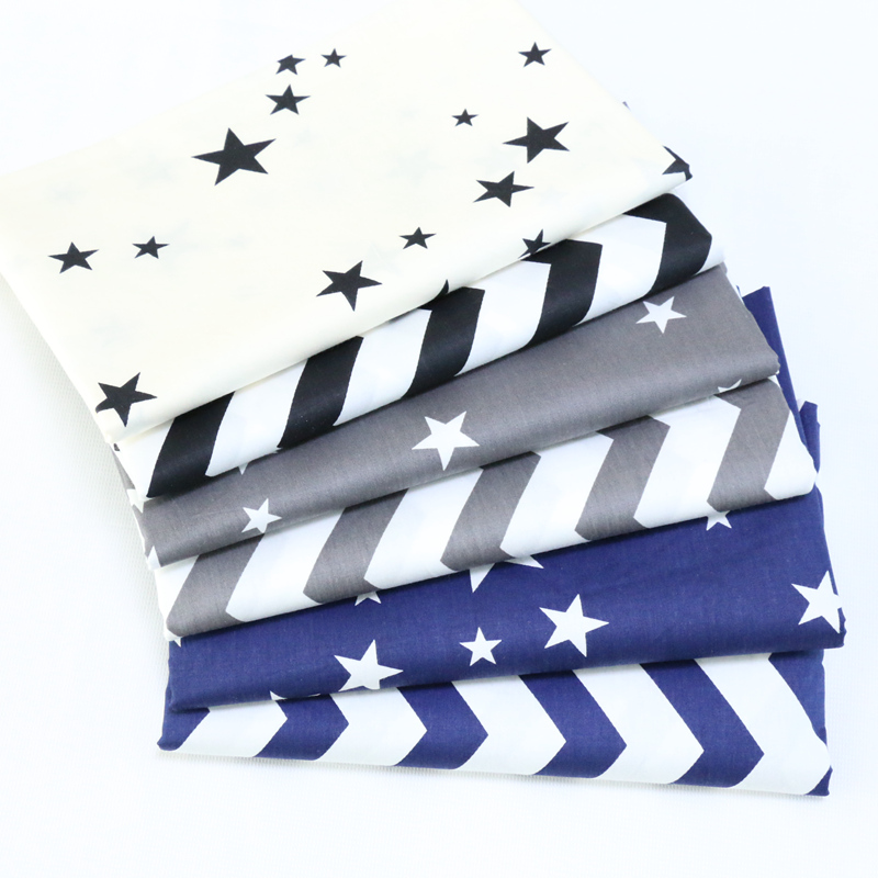 Cotton Fabric No Repeat Design Star Series Patchwork Fabric Fat Quarter Bundle Sewing For Fabric 6 pieces 40cm * 50cm