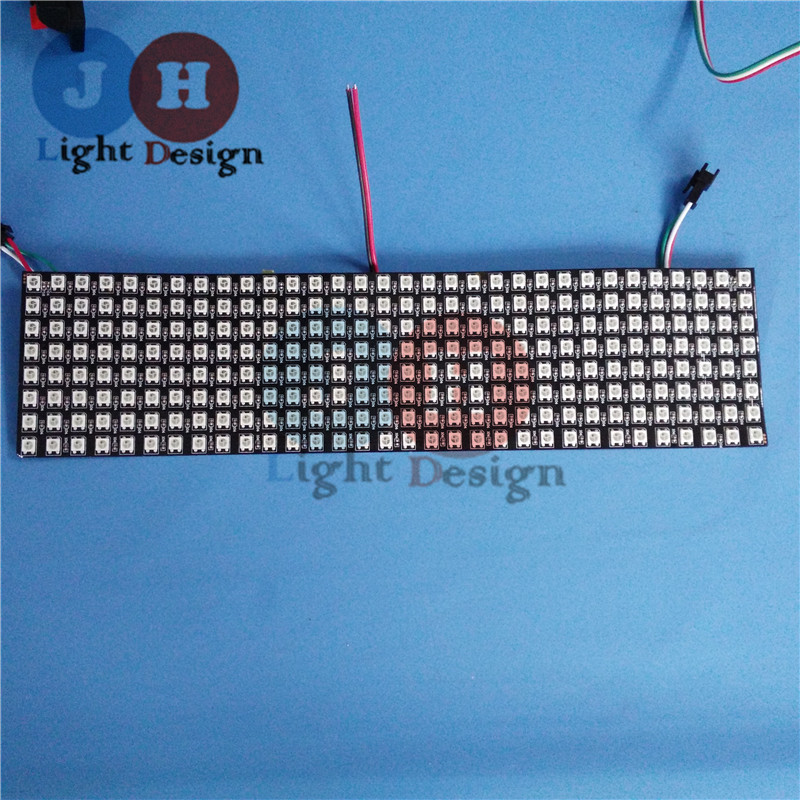 ФОТО 5PCS 8*32 WS2812B RGB 256 LEDs 5050 Flexible 5V Pixel Matrix LED Display Board IC2811 LED Digital RGB