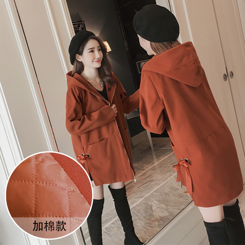 Pregnant women in winter new cotton woolen buttocks fashion loose jacket pregnant women jacket 2018 winter new style pregnant women large size cotton skirt paragraph down coat cotton clothing