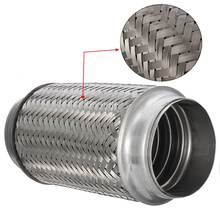 Exhaust Flex Pipe Stainless Steel Double Braid 3″ x 8″ 76mm x 195mm