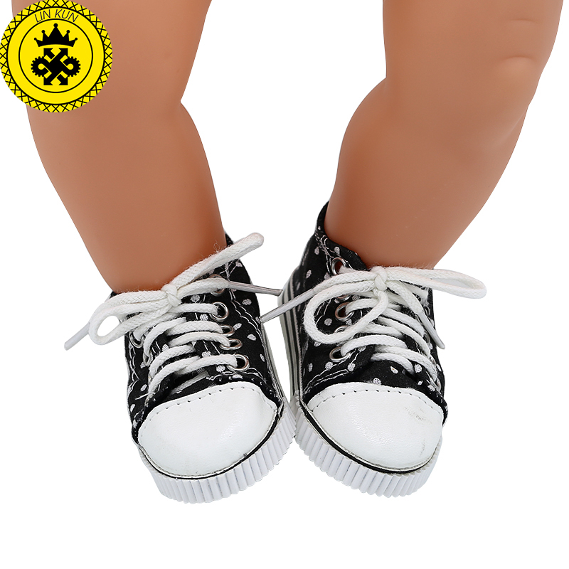 Baby Born font b Doll b font Shoes 7 Styles Cute Blue Lacing Casual Shoes Leather