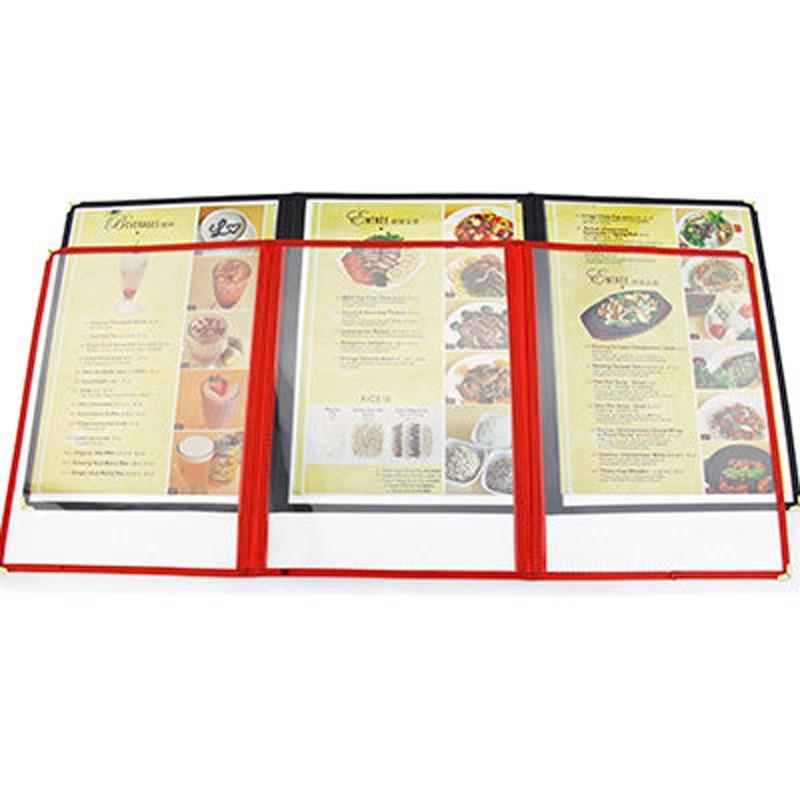 3 sheet three panel plastic menu holder (10)