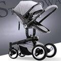 Envío libre Uhababy moda cochecito de bebé niño plegable cesta de choque de coche de bebé cochecito