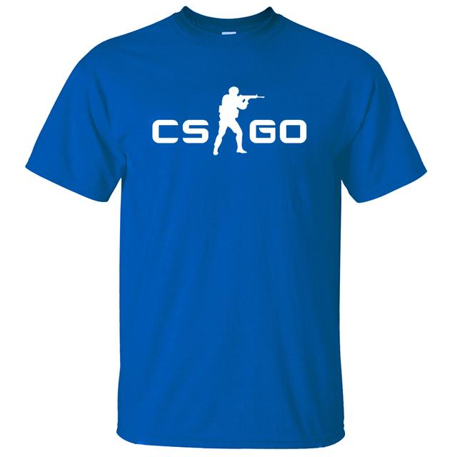 gift for gamer CS GO man t shirt 2016 summer style men short sleeve shirt 100% cotton high quality hip hop style top tees S-3XL