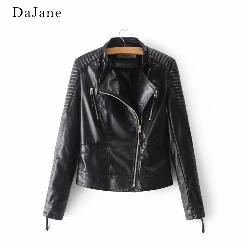 Autumn New women's PU   Leather   Jacket long-sleeved Shirt Manufacturers   Leather   Jacket Women