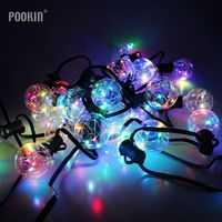 5M 25Bulbs G40 Globe Bulb Led String Light Copper Wire LED String Lights For Wedding Christmas Decoration Party Street Strings