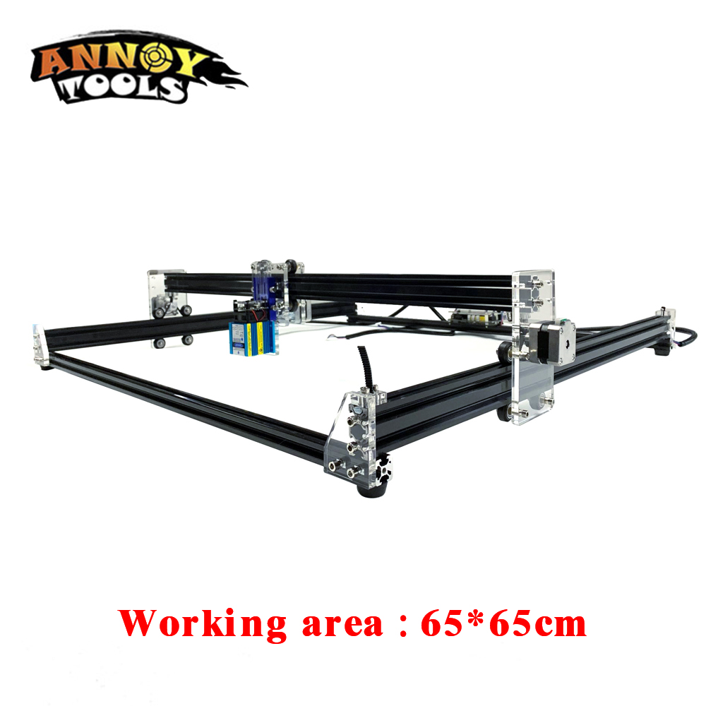 15W Laser Engraver CNC Machine With Double V Slot Pulley Line And Easy Adjust Height 1