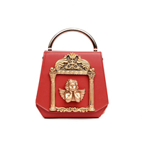 2019 Luxury Designer PU Leather Women Handbags Retro Baroque styler Angel pearl Ladies Shoulder Bag Female Tote messenger bag