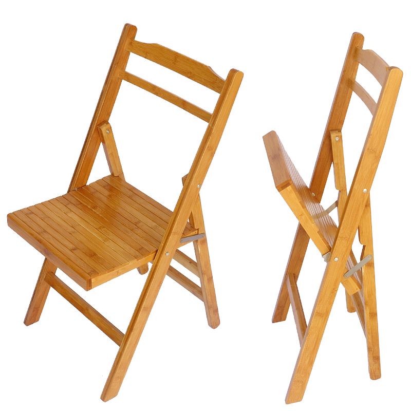 Bamboo Folding Chairs Office Outdoor Portable Chairs Minimalist Modern Wood  Chairs Small Chair Specials In Figurines U0026 Miniatures From Home U0026 Garden On  ...