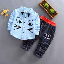 IENENS 2PC Kids Baby Boys Clothes Clothing Sets Infant Boy Blouse + Pants Outfits Suits Child Christmas Tracksuits