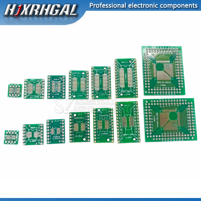 5PCS SOP32 to DIP32 1.27mm 2.54MM pitch Interposer board pcb Board Adapter Plate