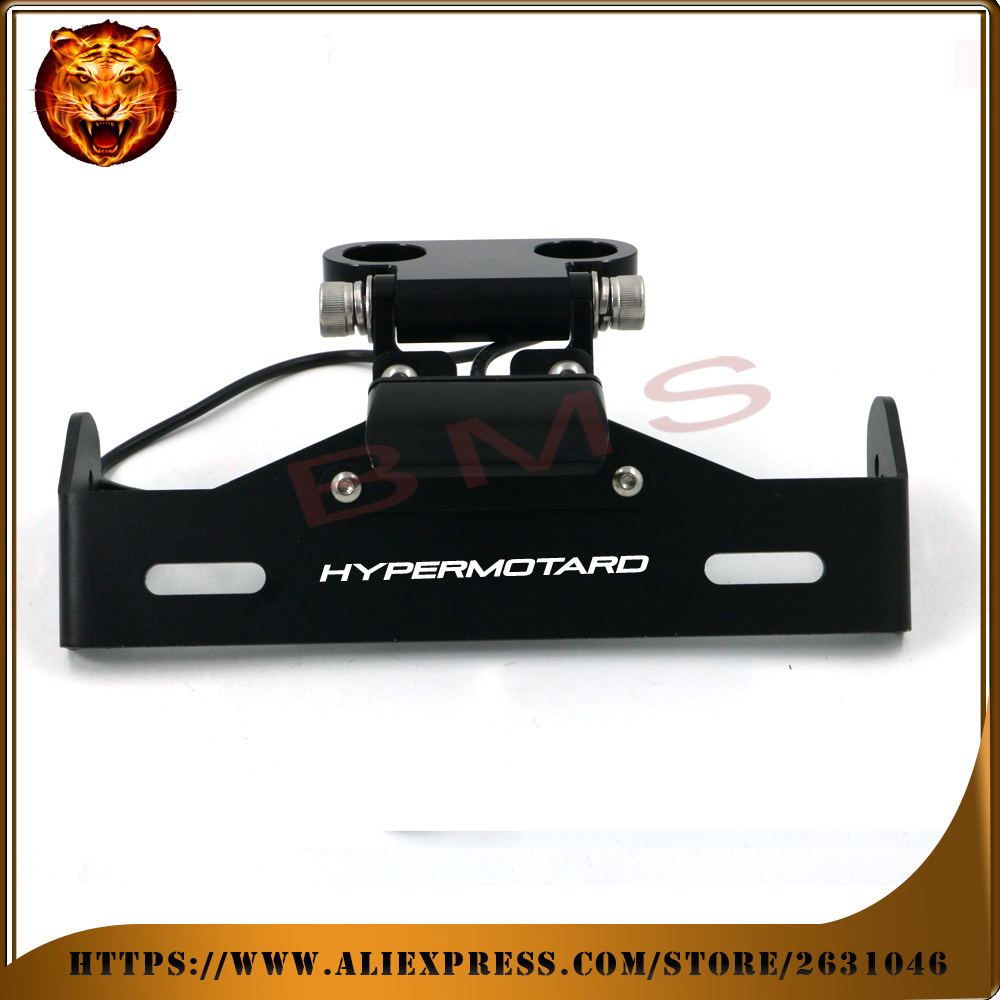 Motorcycle Fender Registration License Plate mount TailLight LED Holder Bracket for DUCATI Hypermotard 939 821 free shipping motorcycle tail tidy fender eliminator registration license plate holder bracket led light for ducati panigale 899 free shipping
