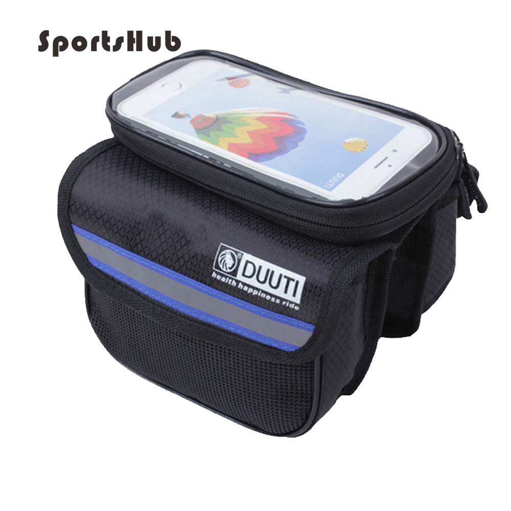 SPORTSHUB 5L Rainproof Reflective Bicycle Bags Touchable Screen Cycling Bike Frame Bags Holder Pannier Phone Bag C0006