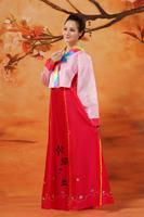 Doğrudan Satış Sıcak Satış Polyester Kadın Dans Kostümleri Hmong Elbise Antik Çin Kostüm Hanbok Kore kadın Giyim