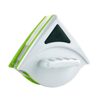 Magnetic Window Brushes Washing Glass Wiper Triangle Plastic Cleaning Brush Window Cleaning Magnets Cleaner Wizard Home