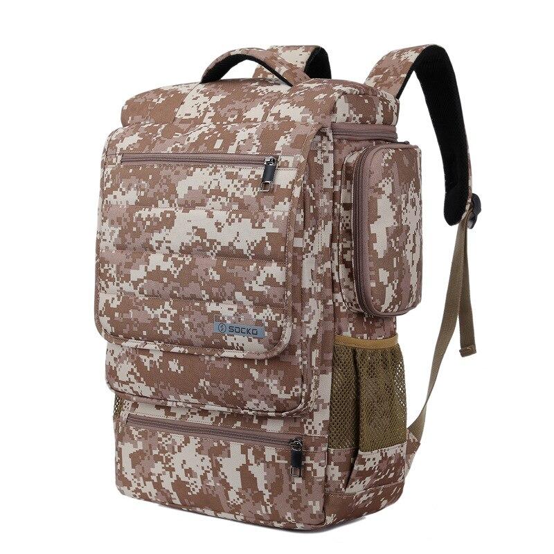 Sac à dos pour ordinateur portable 10-17 pouces en Nylon mode sac à dos sac d'école voyage multifonctionnel camo sac hommes et femmes