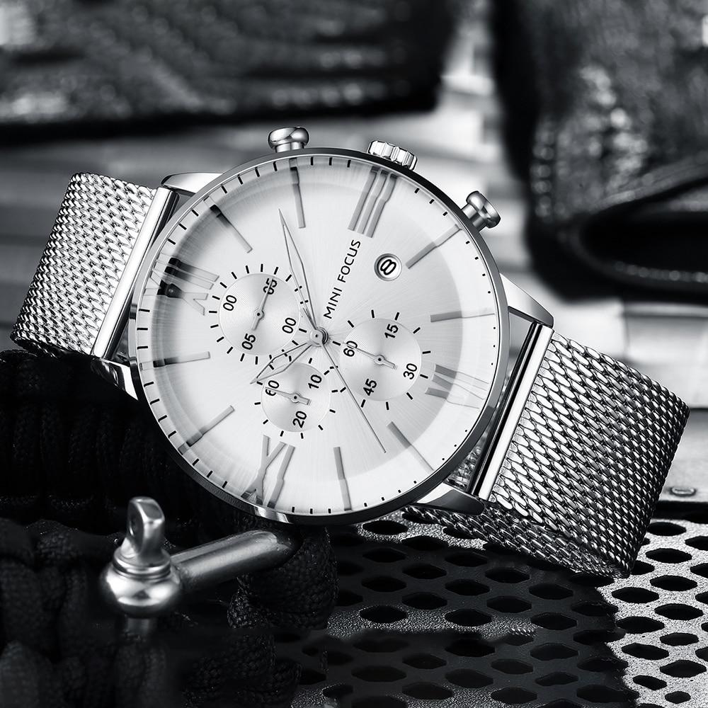 2019 Luxury Quartz Watches Men Brand MINI FOCUS Men's Business Sport Watch Waterproof Chronograph Wristwatches Relogio Masculino