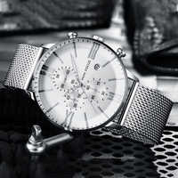 2019 luxus Quarz Uhren Männer Marke MINI FOKUS herren Business Sport Uhr Wasserdichte Chronograph Armbanduhren Relogio Masculino