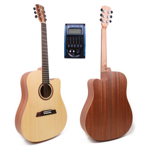 Free shipping 41 Acoustic Guitar,Solid Spruce Top/Mahogany Body guitarra eletrica With LCD Pickup, guitars china With Hard case free shipping gb lefthanded sg brown guitar with signature guitars lp custom high quality p90 pickup one piece of neck left hand