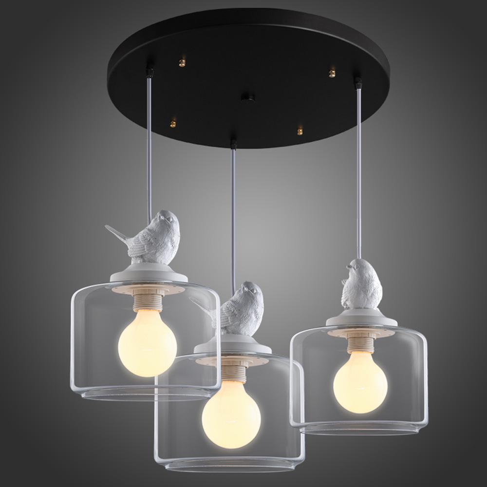 3 Heads / Set Little Bird Pendant Light Bar Vintage
