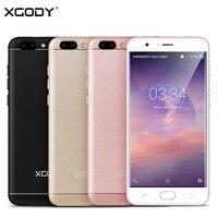 XGODY 4 г LTE 5,5 дюймов смартфон 1 Гб оперативная память 16 Встроенная 13.0MP мобильный сенсорный MTK6737 ядра Android 6,0 Telefone Celular 2 SIM