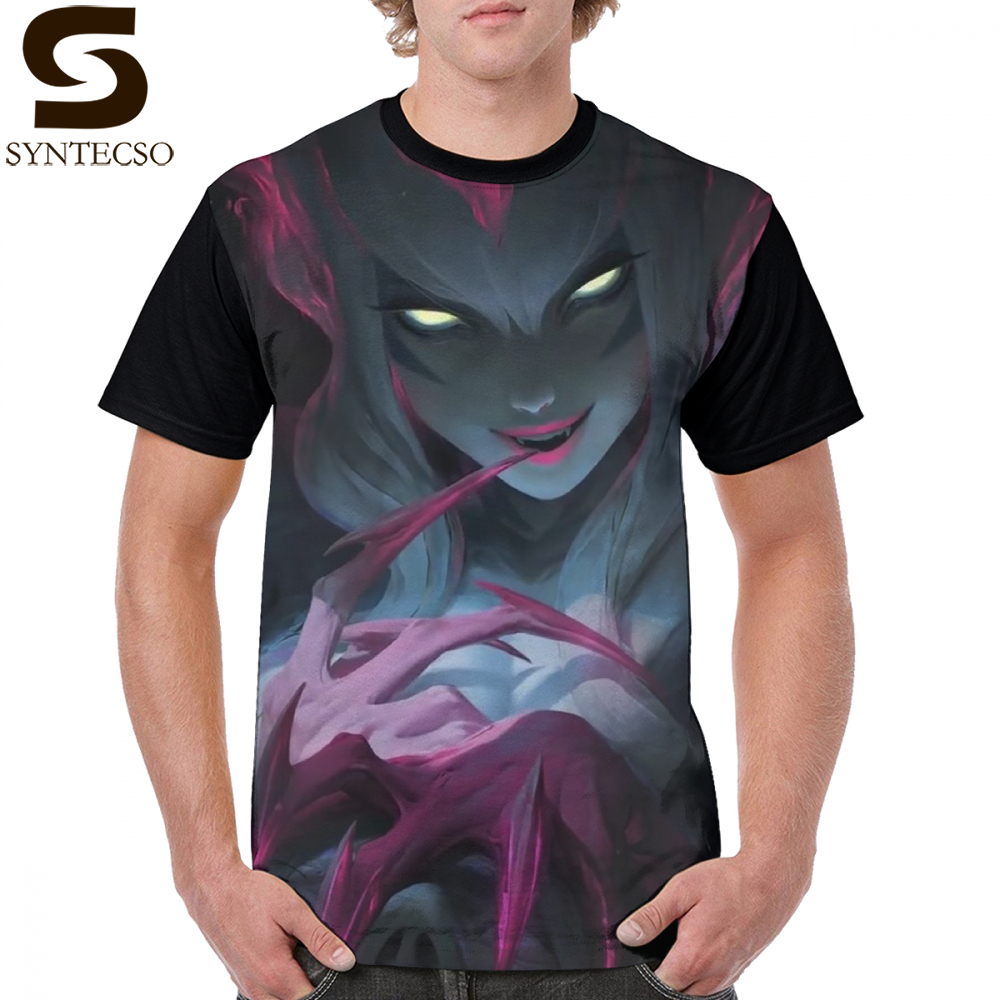 League Of Legends T Shirt Evelynn Rework T-Shirt Mens Casual Graphic Tee Shirt Funny Short-Sleeve 4xl Polyester Graphic Tshirt