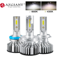 AZGIANT 2PCS 6000K Car Led Lamp High Low Beam with Top COB SMD Chip 360 Degree Beam Angle H1 H3 H4 H7 H11 H13 9005 9006