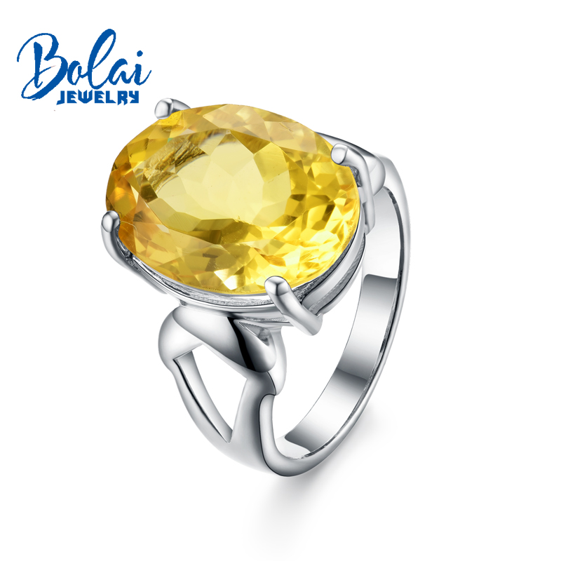 Bolaijewelry,Natural big size citrine oval12*16mm Gemstone Ring 925 sterling silver fine jewelry for women Christmas party giftBolaijewelry,Natural big size citrine oval12*16mm Gemstone Ring 925 sterling silver fine jewelry for women Christmas party gift