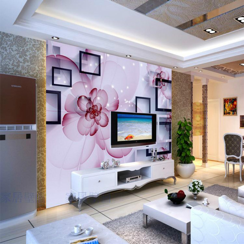 Custom Modern Minimalist Fashion Transparent Red Flower 3D Wallpaper  Bedroom Living Room 3D Wallpaper Murals 3d Perspective In Wallpapers From  Home ...