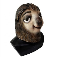 Eco-Friendly Funny Halloween Costumes Cosplay Animal Toy Cute Sloth Mask