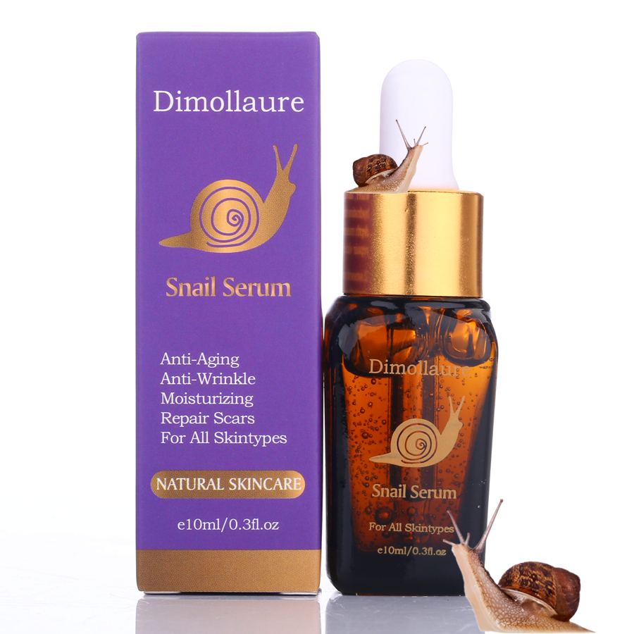 Dimollaure Snail Serum Hyaluronic Acid Essence Face Cream Moisturizing Acne Treatment Skin Care Repair Whitening Anti-Aging