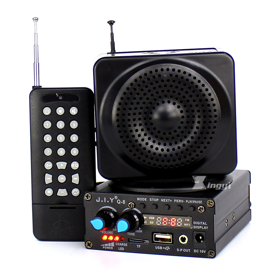 Q-8 48W 500m Remote Control Hunting Mp3 Bird Caller Trap Birds Sound Player Hunt Duck Decoy Equipment USB Speaker Mini Amplifier