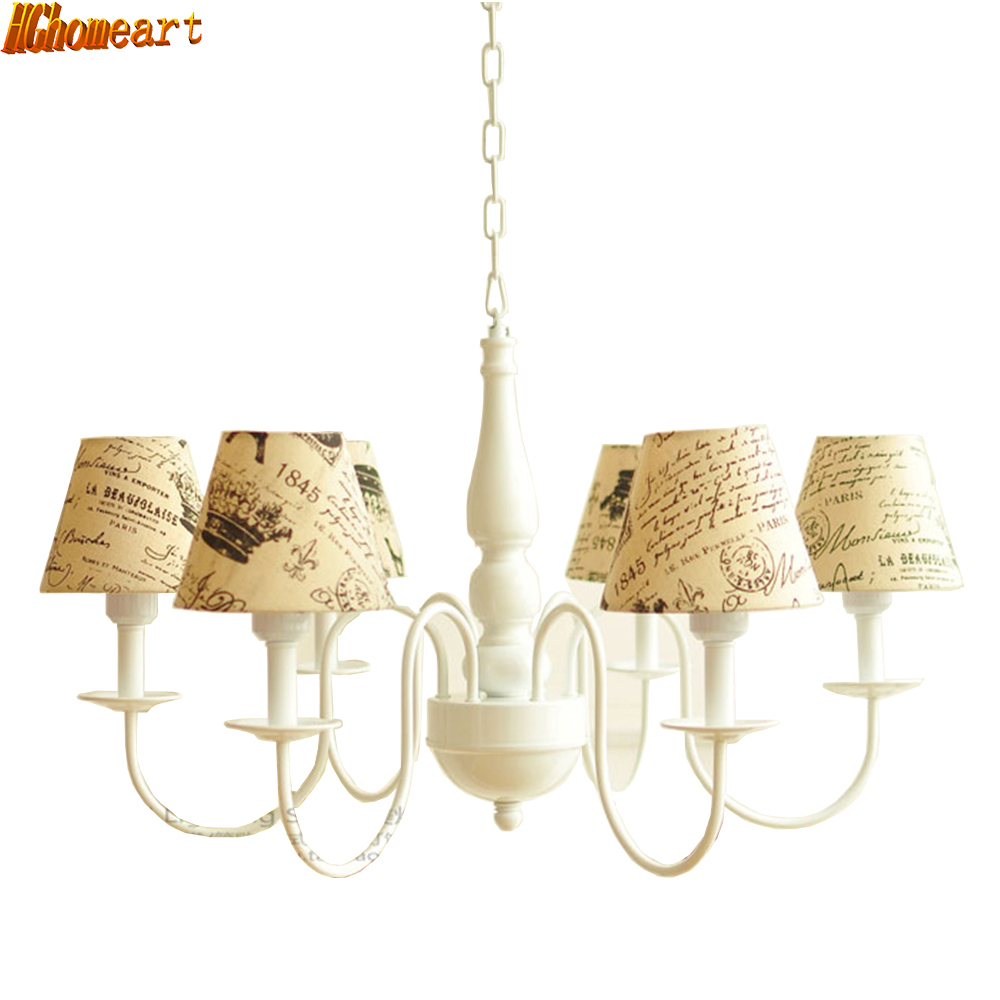 Warranty for Three Years New Modern Chandelier Led E27 Bulbs 110V-220V 3/6 Head Resin Wrought Iron Chandeliers for The Bedroom
