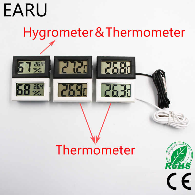 Mini Digital LCD Auto Car Pet Thermometer Humidity Temperature Meter Sensor Gauge Thermostat Hygrometer Pyrometer  Thermograph