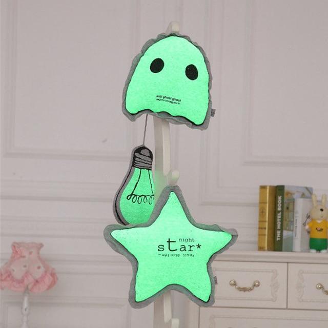 Vente chaude, mode Bébé Coussin Fluorescent Coussin Lumineux Oreiller Bébé Jouets Populaires Jouets Pour Bébé En Peluche Jouet