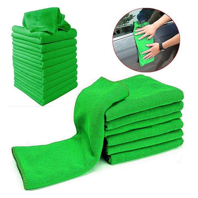 "5/10Pcs 9.84"" x 9.84 "" Ultra Soft Microfiber Towel Car Washing Cloth for Car Polish& Wax Car Care Styling Cleaning Microfibre"