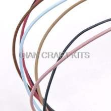 Круглый шнур из натуральной кожи разных цветов 2 мм вощеной