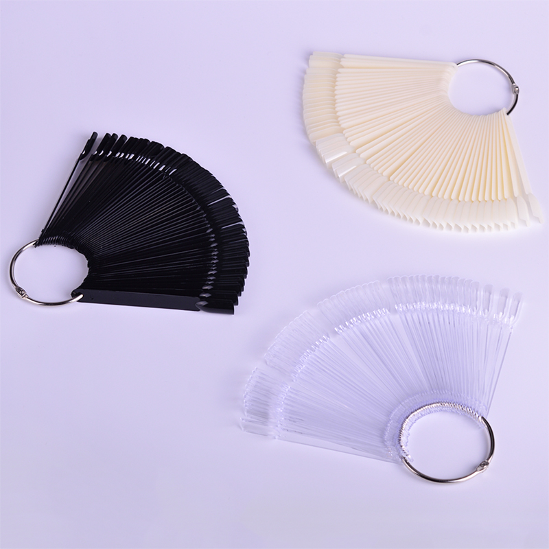 Image 5 - 1Set False Nail Tips Nature Clear Black Fan Finger Full Card Nail Art Display Practice Acrylic UV Gel Polish Tool Manicure JI386-in False Nails from Beauty & Health