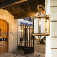 Водонепроницаемый напольный Бра Открытый сад лампа балкон бра большой бра для отель Античная бронзовая настенные светильники уличные парк