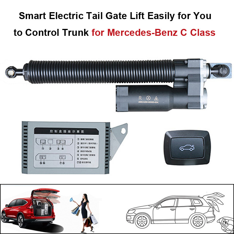 Smart Auto Electric Tail Gate Lift For Mercedes-Benz C Class Control Set Height Avoid Pinch With Electric Suction
