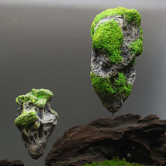 aquarium decoration ornament resin avatar flying stone float stone fish tank artificial pumice stone 2 sizes