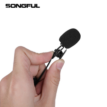 Lavalier Microphone Recording Clip-On Mic Studio Tik Tok Mini Lapel for Speech Hands-Free