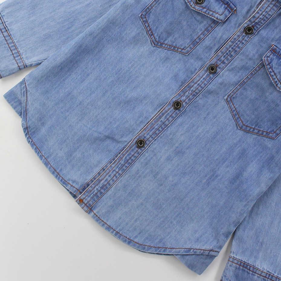 Artishare ג 'ינס מעיל בנות סתיו מוצק מעיל ילדה מקרית ילדים ג' ינס מעיל בגיל ההתבגרות ילדי בגדי 6 8 10 12 שנה